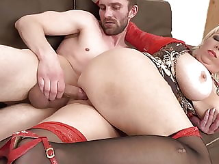Hungry mature MILFs spoiling sons
