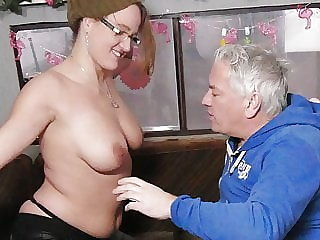 German amateur gets fucked by an old guy