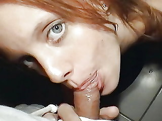 My secret blowjob Teenie in the bathroom