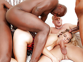 Amelie Matis Has All Holes Destroyed in a Wild BBC Gangbang