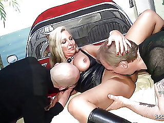 Big Natural Tits MILF let Two Stranger Fuck her at Party