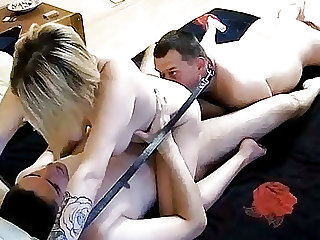 Homemade Treesome Bisex Action With Strpon on Real Cam!