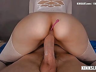 WIFE FUCKS HUGE COCK