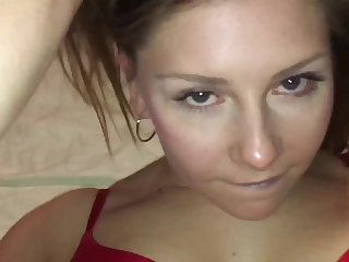 Valentines Day CUM Dumpster Whore Squirts Then THOATS Cock