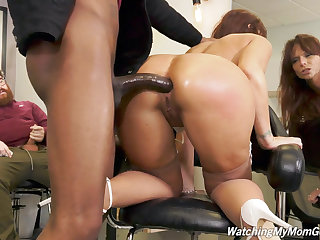 Busty MILF Syren DeMer Enjoys Anal Gangbang And DP With Big Black Cock