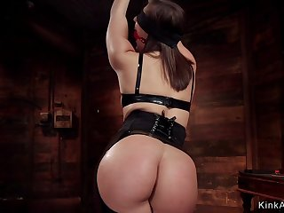 Perfect ass slave anal fucked in bondage