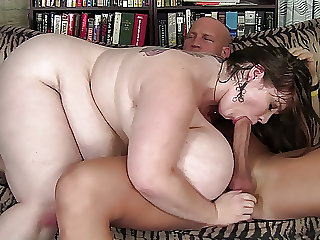 Amateur BBW with enormous boobs gets fucked hard